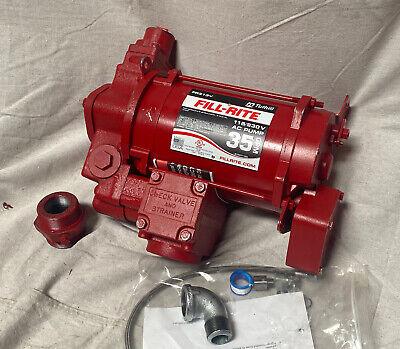Fill-rite Fr313v 34 Hp Cast Iron Rotary Vane Fuel Transfer Pump 35 Gpm 115230v