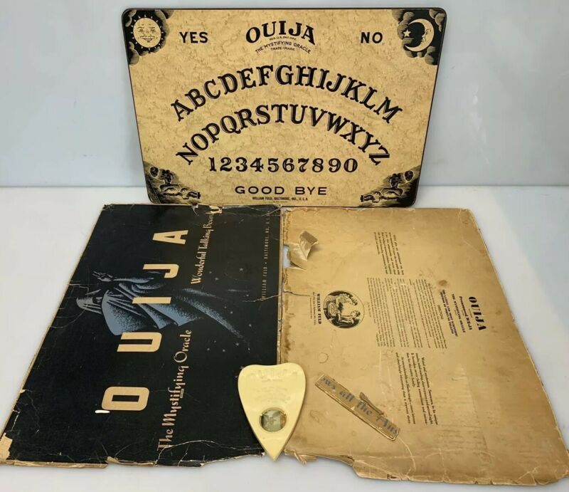 Vintage William FULD Ouija Board Mystifying Oracle Planchette w/Partial Box USA