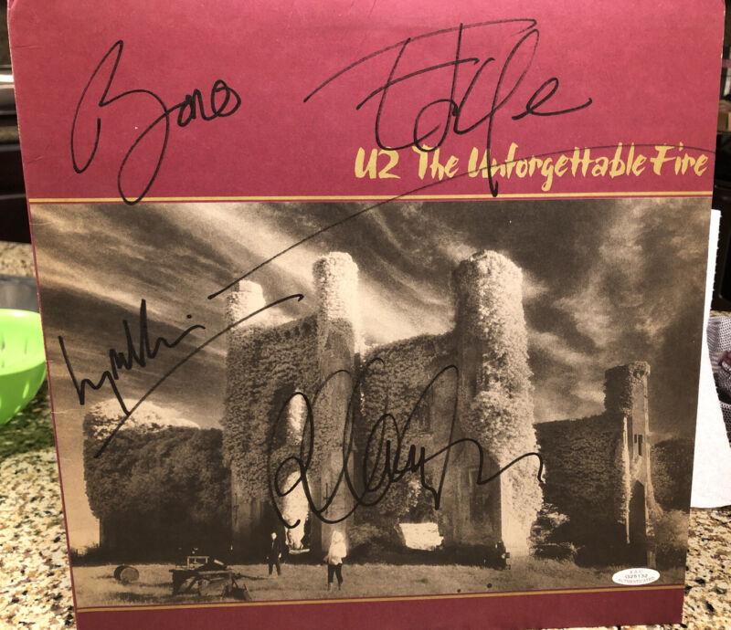 U2 Unforgettable Fire Originally Autographed Bono Edge Larry Adam Authenticated