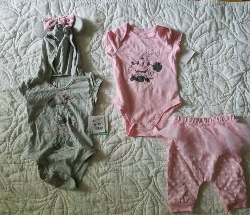 Minnie Mouse Lot Of 3 - Size 6-9 Months Assorted Nwt