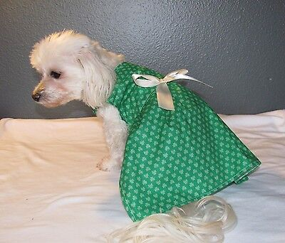 Green Shamrock St. Patrick's Day Dress Dog Puppy Teacup Pet Clothes XXXS - Small](Dog St Patrick's Day Clothes)