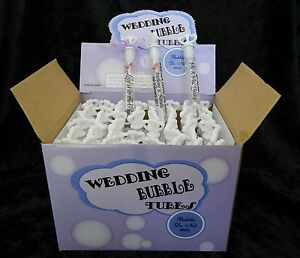 Wedding Bubble Tube Wands with Persionalised Labels x 48