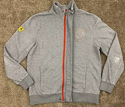 Ferrari Zip Up Jacket Puma SportLifestyle Size L Offical Product Grey Distressed