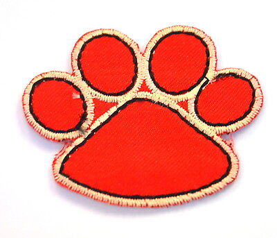 PAW PRINT PET DOG CAT  5cm  Embroidered Sew Iron On Cloth Patch Badge APPLIQUE 5 Piece Cats Paw