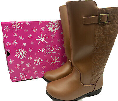 Girls Cowboy Boots Size 2Y Arizona Jean Co. Brown Western Boots Cowgirl - NEW!