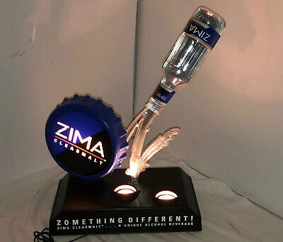Vintage Zima Light Up Alcohol/Bar Advertising Sign Great Condition Rare