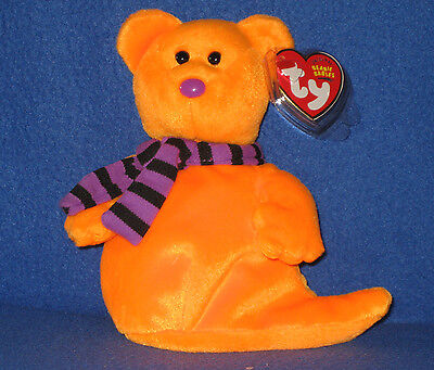 TY SHIVERS the HALLOWEEN GHOST BEANIE BABY - MINT with MINT TAG](Beanie Baby Tag Halloween)
