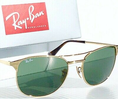 NEW* Ray Ban Aviator Gold 55mm Aviator Green Womens Lens Sunglass RB 3249-M