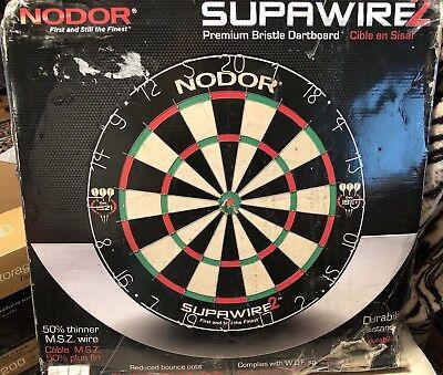 New Nodor Supawire Premium Bristle Dartboard 50% Thinner MSZ (Premium Bristle Dartboard)