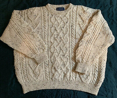 Mac Eocagam Irish Wool Sweater XXL Eire Ireland Hand Crafted FREE SHIPPING!