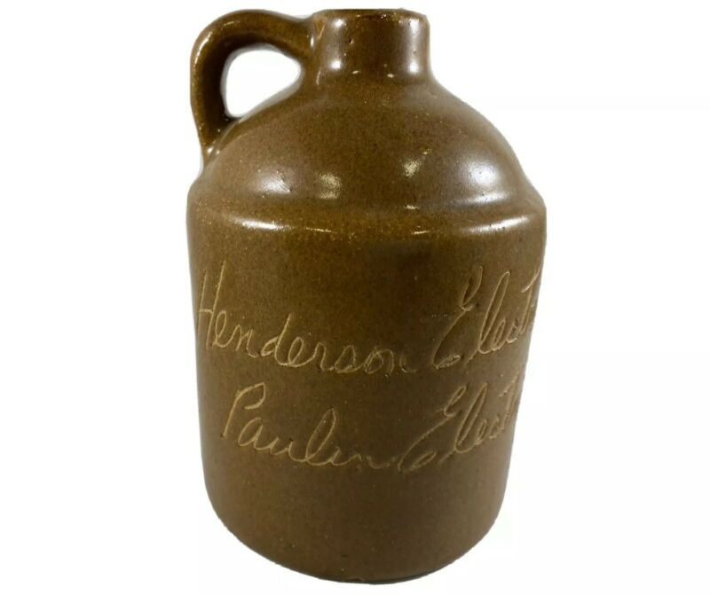 Vtg Bybee Pottery Paulin Electric Henderson Kentucky Advertising Scratch Jug 4""