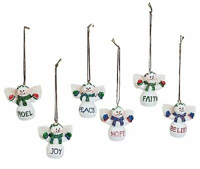 Cheap Christmas Ornaments (FLASH SALE》6 Snowman Angel Christmas)