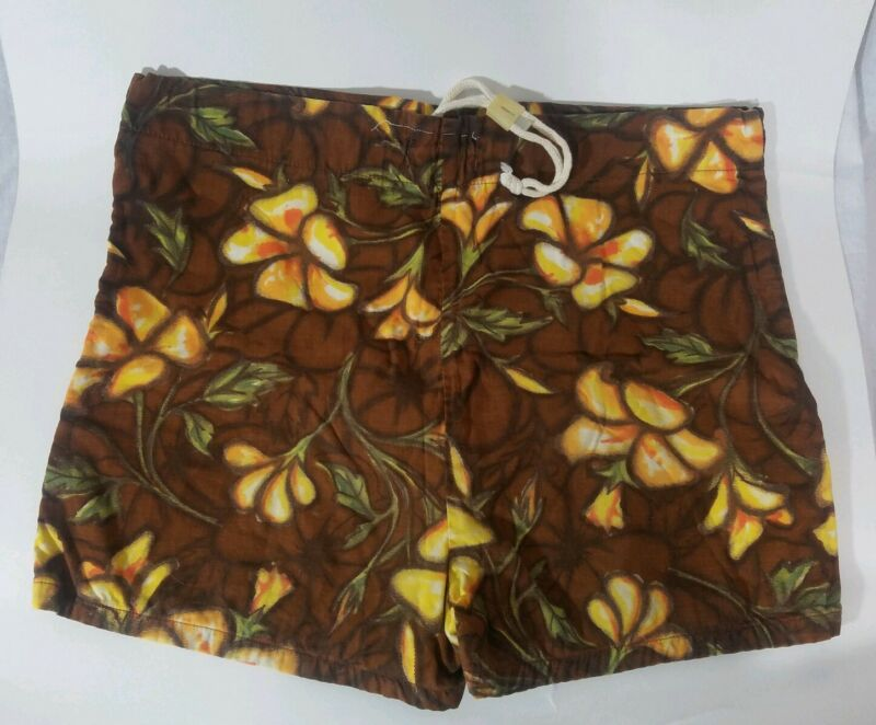 Vintage Catalina Surfers Swim Shorts/Trunks Hawaiia Rare 60s sz Small