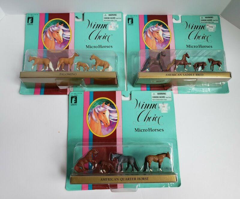 Vtg 1996 Creata Winners Choice Micro Horses No. 3960 - NEW Lot of 3