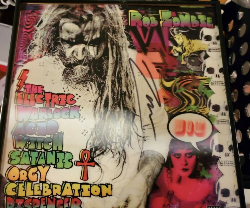 Rob Zombie Autographed Vinyl Insert (picture shifting)