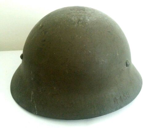 VINTAGE ANTIQUE Japanese World War II Military Helmet Liner & Chin Strap
