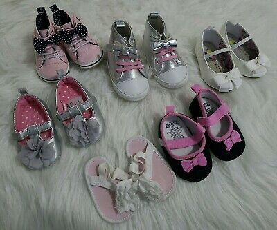 Child Of Mine,baby gear, surprize. Girls shoes infant to size 3 pink bows lot 6
