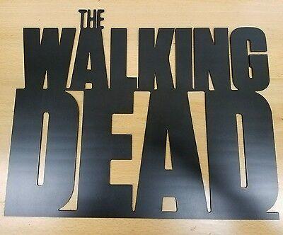The Walking Dead sign metal wall art plasma cut decor zombies gift - Zombie Decorations Ideas