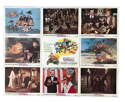 Bedknobs And Broomsticks Orig. Reissue 1979 Lobby Card Set Of (9) 11x14 Images