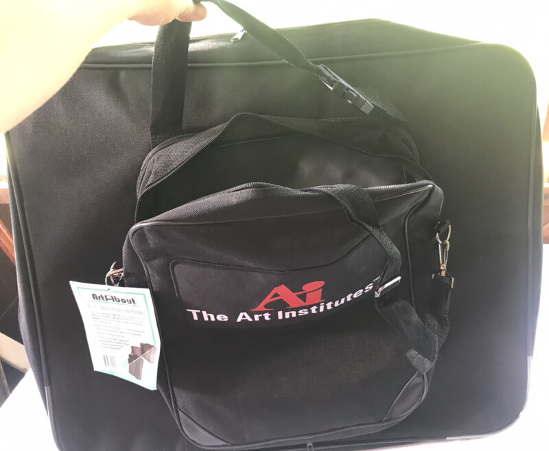 """Art About 20""""x25"""" Modular Deluxe Soft-Side Portfolio Bag Removable Pouch"""