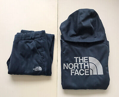 NORTH FACE Youth Junior Large Fleece Hoodie Tracksuit Set
