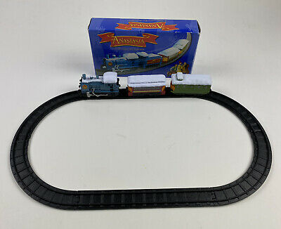 Vtg 1997 Anastasia Miniature Train Set w/ Track- 20th Century Fox WORKS, READ