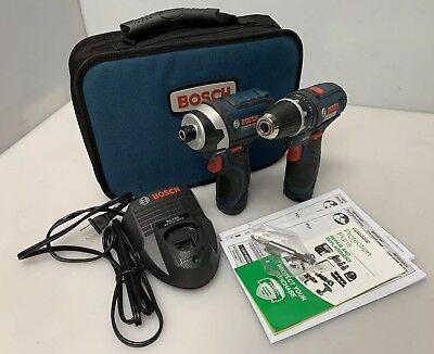 BOSCH PS31 & PS41 Combo Kit w/ 2 Batteries & Charger Drill Kit CLPK22-120 Kit W/2 Batterien