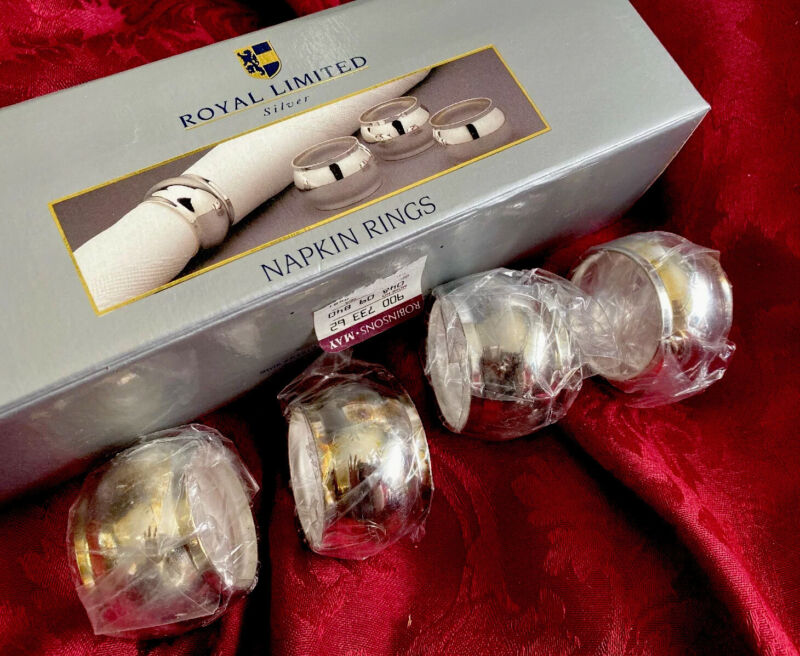Vintage -Royal Limited-silver Napkin Rings - NEW In original box