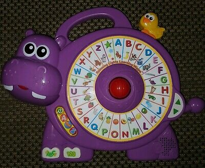 VTech Spinning Lights Learning Singing Hippo Vocabulary Numbers Alphabet WORKS