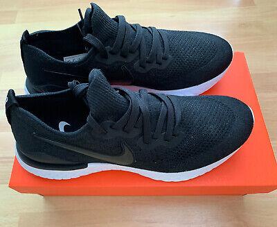 Nike Epic React Flyknit 2 UK 8 US 9 EU42.5 BQ8928-002 Black/White Brand New DS