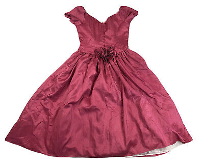 80s Dresses   Casual to Party Dresses Vintage 1980s Pink Taffeta Formal Dress Size 14 $110.06 AT vintagedancer.com