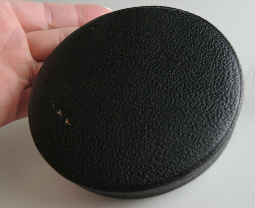 94mm VELVET LINED - LEATHER LENS CAP / COVER for HUGE BIG BRASS LENSES / BARREL