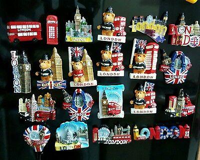 3D I LOVE LONDON ENGLAND UK FRIDGE MAGNET SOUVENIR CERAMIC FRIDGE MANGET  6pcs