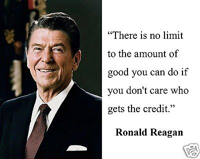 """Ronald Reagan """" there is no limit"""" Famous Quote 8 x 10 Photo Picture #nf1"""