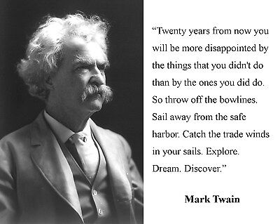 Mark Twain Author Famous Quote 11 x 14 Photo Portrait Picture Photograph a