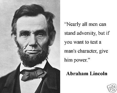 Abraham Lincoln  Nearly All Men Famous Quote 8 X 10 Photo Picture Wc2