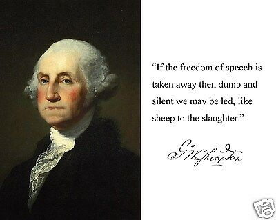 President George Washington  If The Freedom Autograph Quote 8 X 10 Photo K1