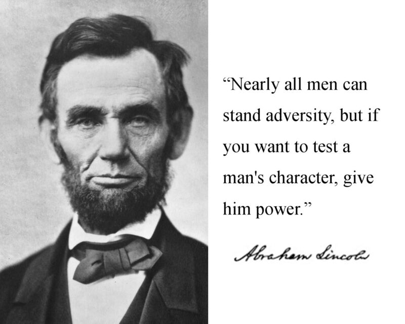 "Abraham Lincoln ""man"