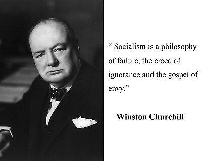 Winston Churchill Socialism Quote 8 x 10 Photo Picture #d1
