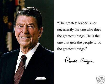 (President Ronald Reagan Portrait Famous Quote 11 x 14 Photo Picture #m1)