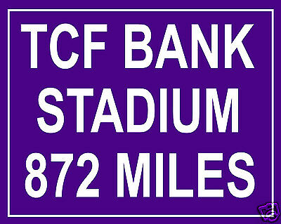 Minnesota Vikings Tcf Bank Stadium Custom Mileage 8 X 10 Photo Picture