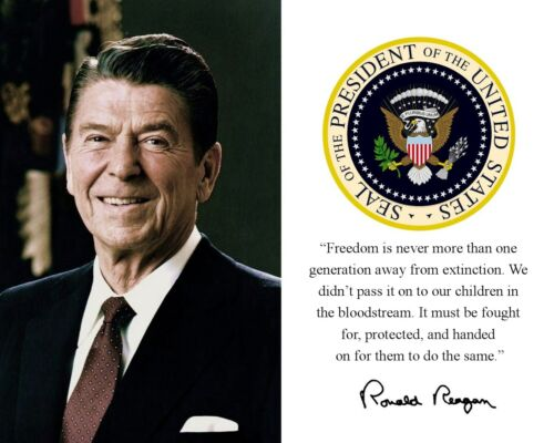 Ronald Reagan Conservative Republican Famous Quote 8 x 10 Photo Picture mf2