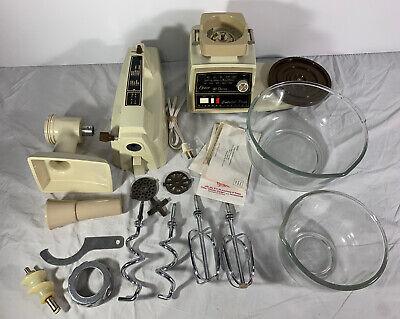 Vintage Oster Regency Kitchen Center | 10 Speed Mixer Grinder w/ Accessories