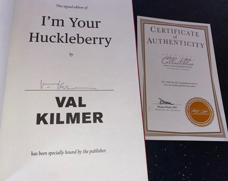 Val Kilmer Signed Book I'm Your Huckleberry COA