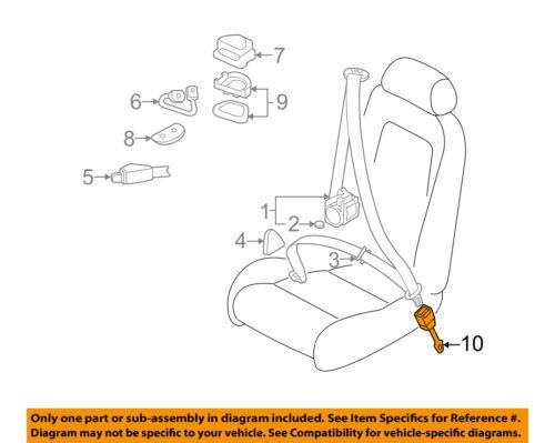 REAR LEFT DRIVER SEAT BELT BUCKLE Audi TT COUPE 2000 00 01 02 03 04 05 06