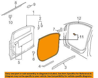 AUDI OEM 07-15 Q7 Front Door-Weatherstrip Seal Right 4L0837912