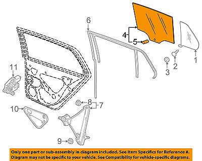 VW VOLKSWAGEN OEM 15-16 Golf Glass-Rear Door-Window-Moveable Left 5GM845025