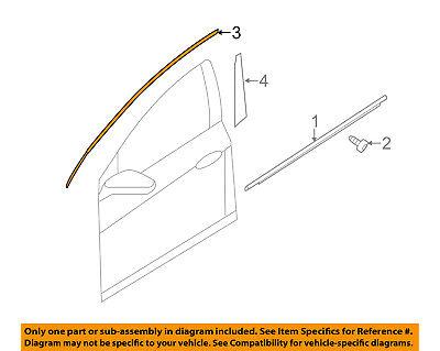 KIA OEM 11-16 Optima Front Door-Frame Molding Left 828502T000