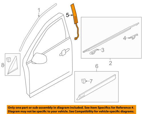 Lincoln FORD OEM 10-15 MKT Front Door-Applique Window Trim Right BE9Z7420554A