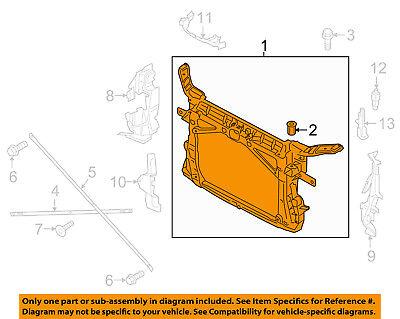 AUDI OEM 15 16 A3 Radiator Core Support Bracket Panel 8V7805588